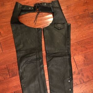 Vintage Leather Motorcycle chaps XS women's